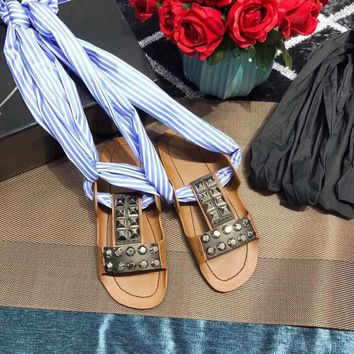 Prada Studded leather sandals