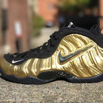 KUYOU Nike Air Foamposite Pro metallic Gold black 624041-701