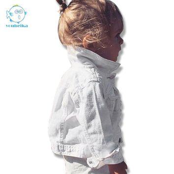 Girls Denim Jacket For Girls Kids Coat Infant Baby Boys Fall Jackets Baby Girl Coat For Children Jacket Denim Turn-down Clothing