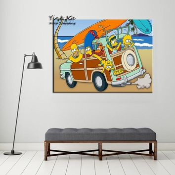 Modular Wall Art Frame 1 Pieces Simpsons Anime Posters Pictures For Modern Home Decoration HD Printed Canvas Painting Artworks