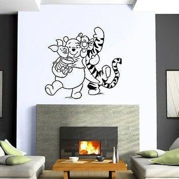 Wall Stickers Vinyl Decal Nursery Winnie The Pooh Cartoon Decor for Kid Unique Gift (ig1058)