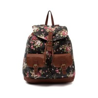 Floral Backpack, Black | Journeys Shoes