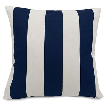 Navy Blue Vertical Stripe Extra Large Pillow