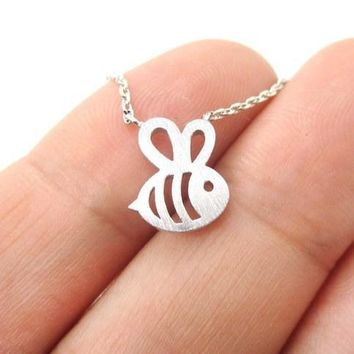Fomous Jewelry Bumble Bee Necklace Shaped Cute Insect