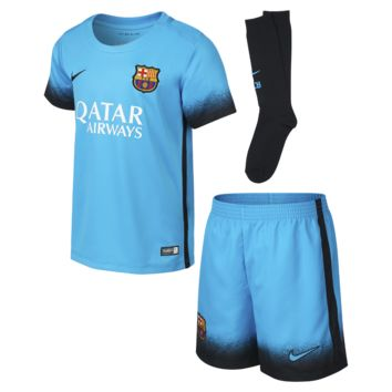 Nike 2015/16 FC Barcelona Night Rising Stadium Preschool Kids' Soccer Kit