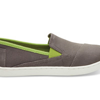 TOMS Ash Canvas Youth Avalon Sneakers Grey
