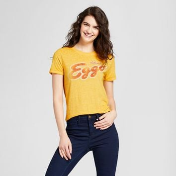 Women's Eggo® Short Sleeve Graphic T-Shirt (Juniors') - Yellow