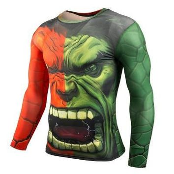 Marvel super hero spiderman New Fitness Compression Shirt Men Anime Bodybuilding Long Sleeve 3D T Shirt Crossfit Tops Shirts