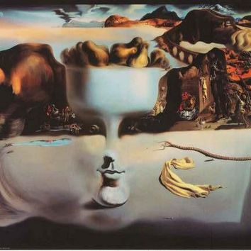 Salvador Dali Apparition of Face and Fruit Dish Poster 24x36