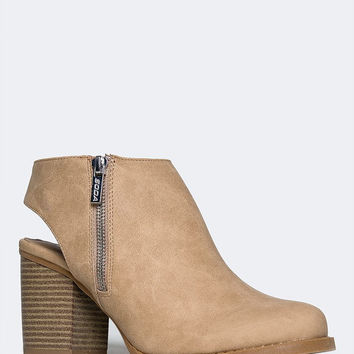 BACK CUTOUT BOOTIE