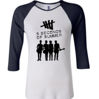 5 Seconds Of Summer Album Cover 3/4 Sleeve Baseball Ladies Jersey