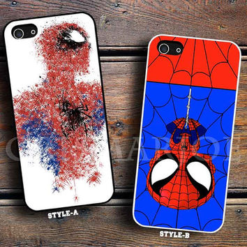 White Spiderman Painting & spiderman minion