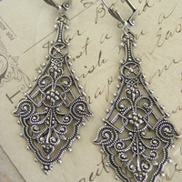 Earrings Silver Filigree Victorian Earrings - Under 30