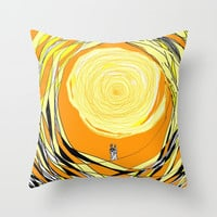 Walking on Sunshine Throw Pillow by RokinRonda