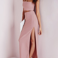 Blush Pink Tube Top Skirt Set