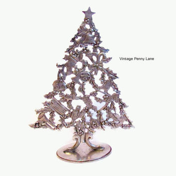 Christmas Tree, Holiday Decor, SEAGULL PEWTER Sculpture