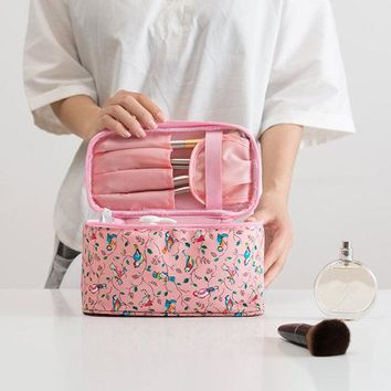 Women Faux Leather Wash Bag Travel Cosmetic Bag