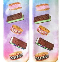Ice Cream Sandwiches Ankle Socks