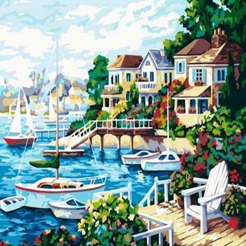 5D Diamond Painting Marina Homes Kit