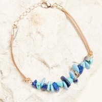 Turquoise Stone Anklet