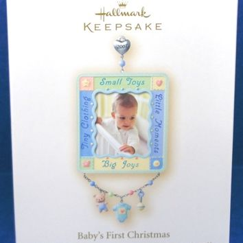 2007 Baby's First Christmas Photo Holder Hallmark Retired Ornament