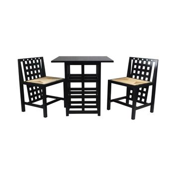 Pre-owned Charles Rennie Mackintosh - Table & 2 Chairs