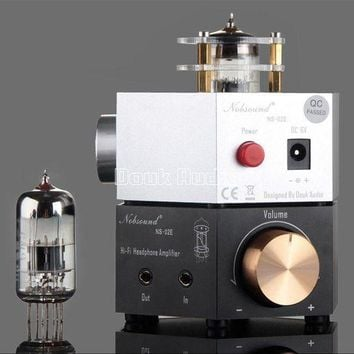 ac NOOW2 2017 Lastest Douk Audio Nobsound NS-02E Class A 6N3 Vacuum Tube Headphone Amplifier Stereo HiFi Earphone Pre-Amp Free Shipping