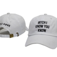 Unisex Rihanna anti tour hat Bitch I Know You Know Baseball Cap
