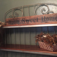 Handmade hand painted distressed wood Home Sweet Home pallet wood sign, repurposed wood, rustic sign, home decor
