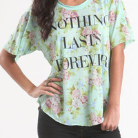 Doe Lasts Forever Floral Tee at PacSun.com