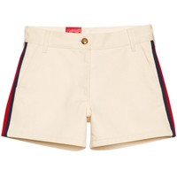 Gucci Cotton Shorts With Web - Farfetch
