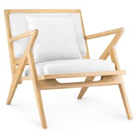 Bungalow 5 Ethan Lounge Chair - Natural | New Furniture | What's New! | Candelabra, Inc.