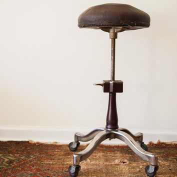 Rare 1920's Antique Genothalmic Shuron Medical Stool
