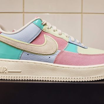 Nike Air Force 1 Low QS Easter Egg Patchwork Blue Pink Sail UK 9 US 10 EU 44