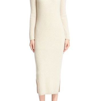 Alice + Olivia 'Gwen' Wool & Cashmere Ribbed Turtleneck Dress | Nordstrom