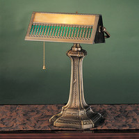 "0-003507>17""h Gothic 1-Light Mission Bankers Lamp Bronze"