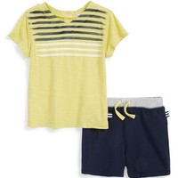 Infant Boy's Splendid V-Neck Shirt & Shorts
