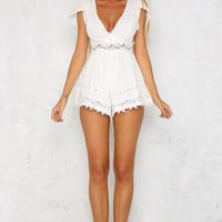Hunter Valley Playsuit White