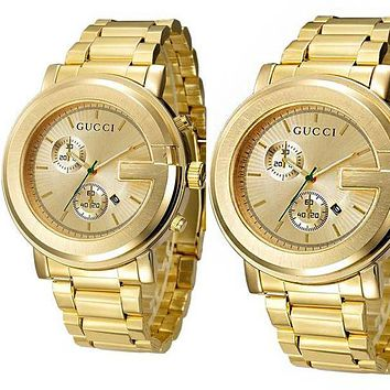 GUCCI Ladies Men Watch Little Ltaly Stylish Watch Gold