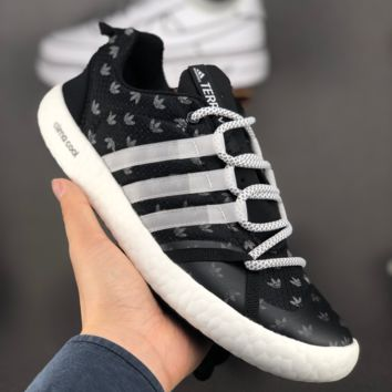 HCXX A1447 Adidas Climacool Boat Lace Graphic Wading shoes Black