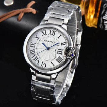 Cartier Men Fashion Quartz Watches Wrist Watch