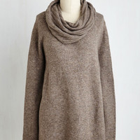 Straight A-Symmetry Student Sweater in Taupe | Mod Retro Vintage Sweaters | ModCloth.com