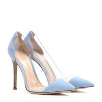 gianvito rossi - suede and transparent pumps