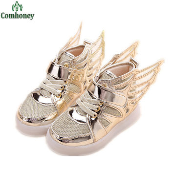 Angel Wings Children Shoes For Girls Glitter Sneakers Running Kids Shoes Boys Shoes Tenis Infantil Toddler Baby Sneakers Outdoor