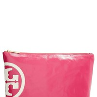 Tory Burch 'Large Dipped' Leather Cosmetics Bag