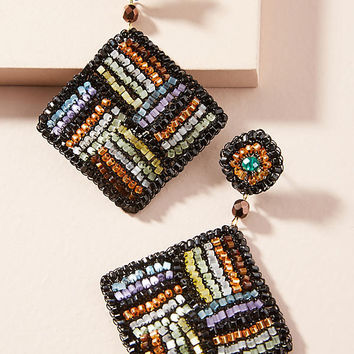 Beaded Paragon Drop Earrings