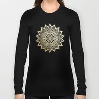 BOHO NIGHTS GOLD MANDALA Long Sleeve T-shirt by Nika