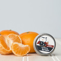 Winter Clementine Lip Balm Tin