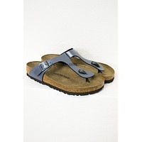 Onyx Leather Birkenstocks