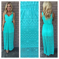 Diamond in the Sky Maxi Dress - MINT